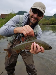 Mihnea's grayling at dry on Ribnik