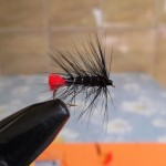Black Zulu wet fly