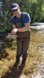 Alin catches nice grayling on Revuca
