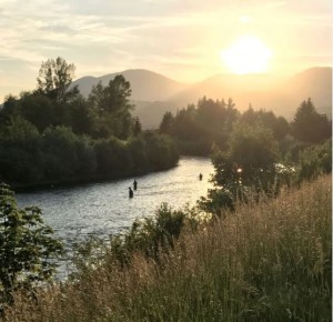 end of fly fishing day on vah